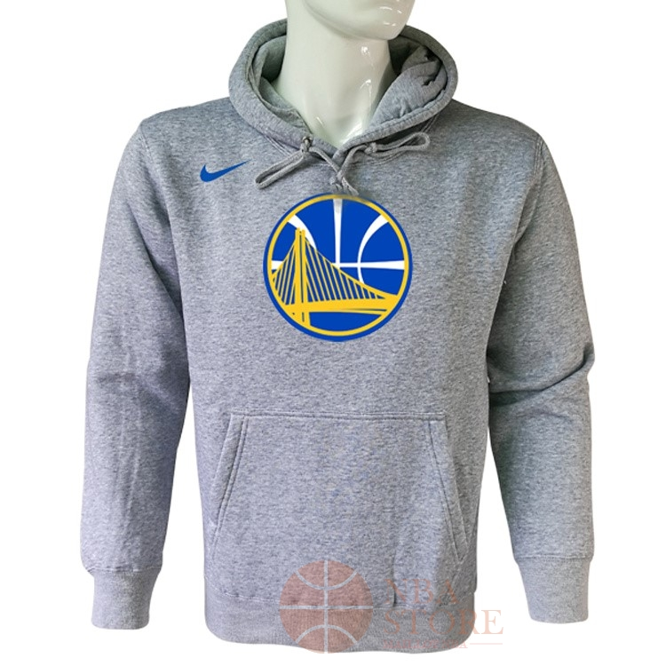 Classic Hoodies NBA Golden State Warriors Nike Gris