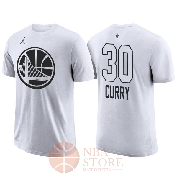 Classic Maillot NBA 2018 All Star Manche Courte NO.30 Stephen Curry Blanc
