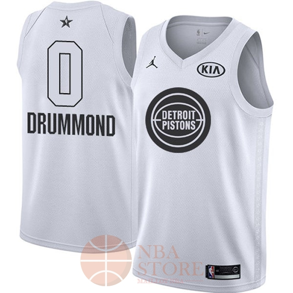 Classic Maillot NBA 2018 All Star NO.0 Andre Drummond Blanc