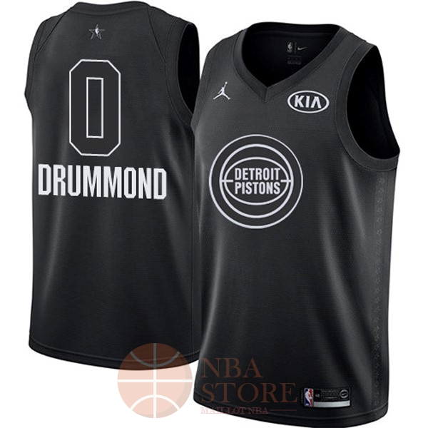 Classic Maillot NBA 2018 All Star NO.0 Andre Drummond Noir