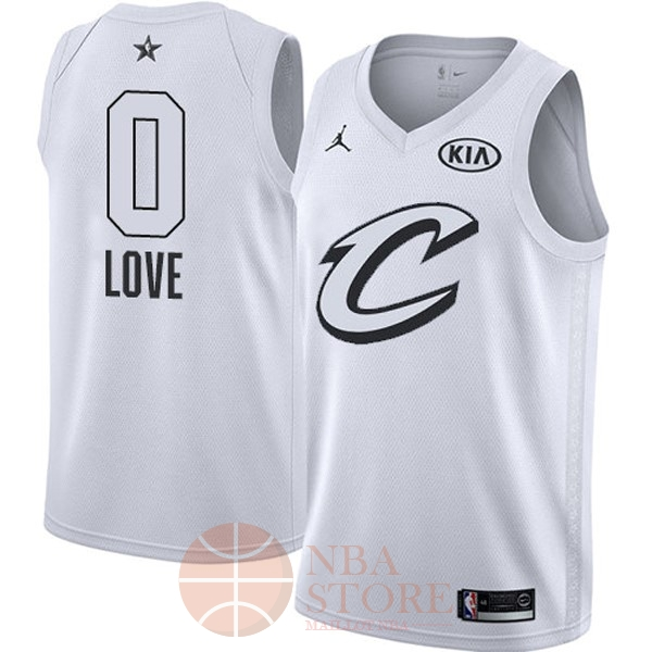Classic Maillot NBA 2018 All Star NO.0 Kevin Love Blanc
