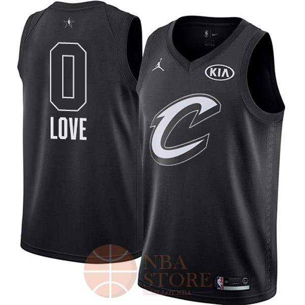 Classic Maillot NBA 2018 All Star NO.0 Kevin Love Noir