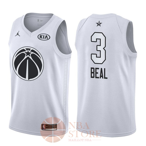 Classic Maillot NBA 2018 All Star NO.3 Bradley Beal Blanc