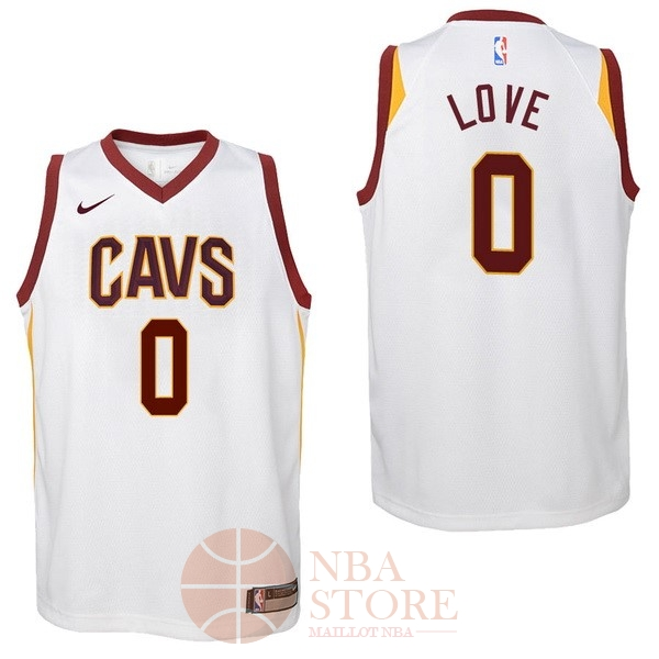 Classic Maillot NBA Enfant Cleveland Cavaliers NO.0 Kevin Love Blanc Association 2017-18