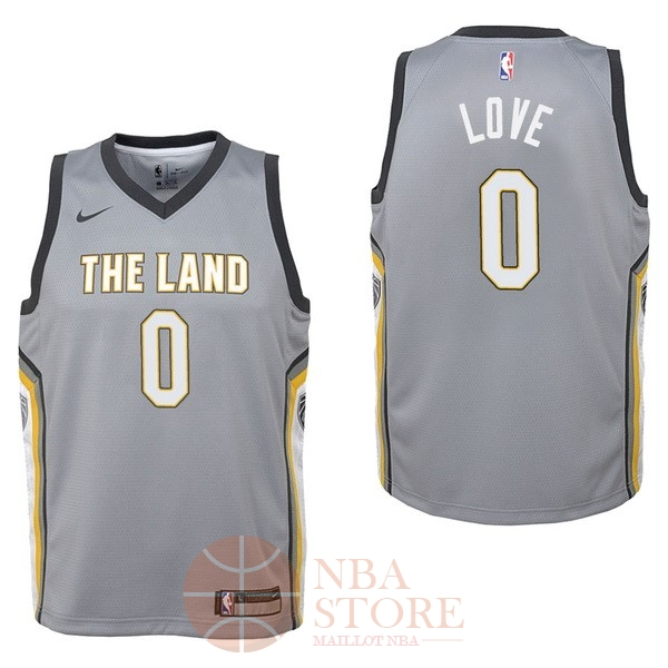 Classic Maillot NBA Enfant Cleveland Cavaliers NO.0 Kevin Love Nike Gris Ville 2017-18