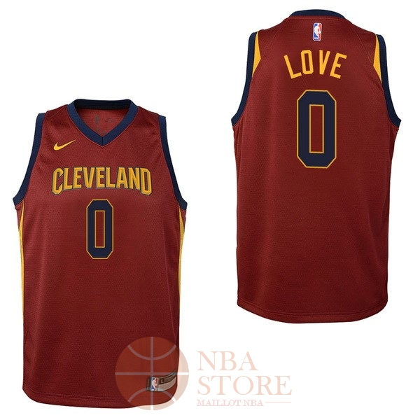 Classic Maillot NBA Enfant Cleveland Cavaliers NO.0 Kevin Love Rouge Icon 2017-18