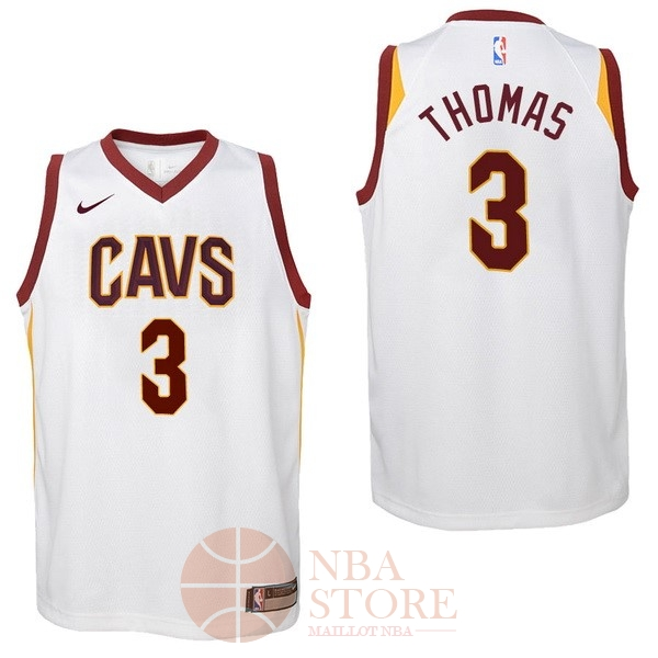 Classic Maillot NBA Enfant Cleveland Cavaliers NO.3 Isaiah Thomas Blanc Association 2017-18