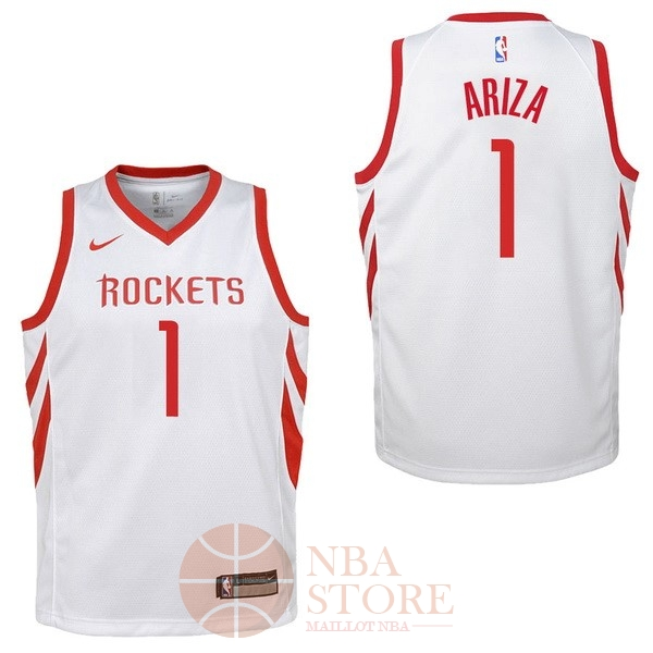 Classic Maillot NBA Enfant Houston Rockets NO.1 Trevor Ariza Blanc Association 2017-18