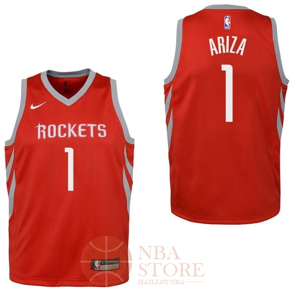 Classic Maillot NBA Enfant Houston Rockets NO.1 Trevor Ariza Rouge Icon 2017-18