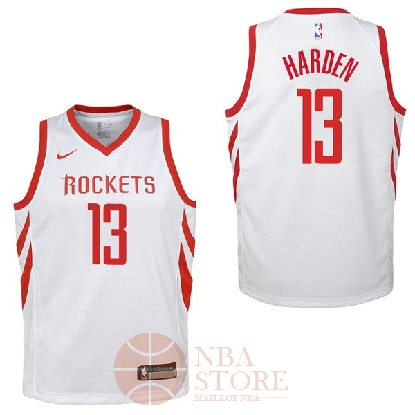 Classic Maillot NBA Enfant Houston Rockets NO.13 James Harden Blanc Association 2017-18