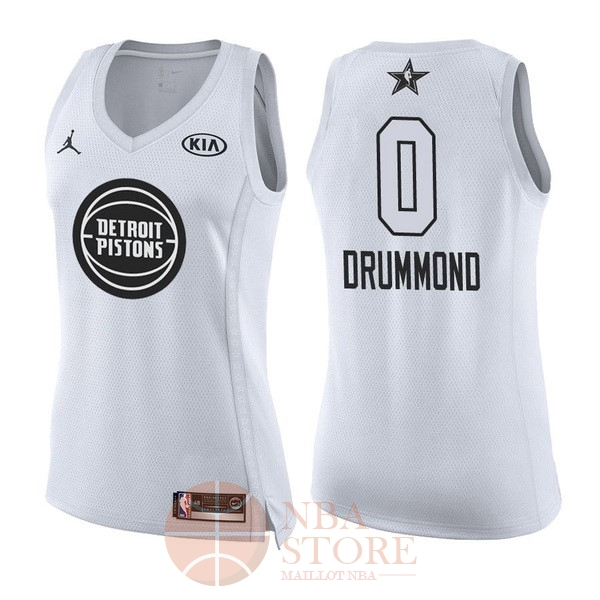 Classic Maillot NBA Femme 2018 All Star NO.0 Andre Drummond Blanc