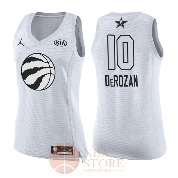 Classic Maillot NBA Femme 2018 All Star NO.10 DeMar DeRozan Blanc