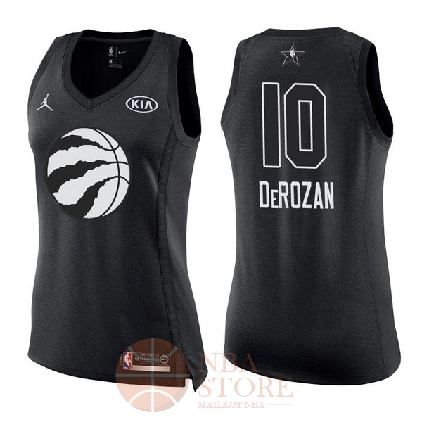 Classic Maillot NBA Femme 2018 All Star NO.10 DeMar DeRozan Noir
