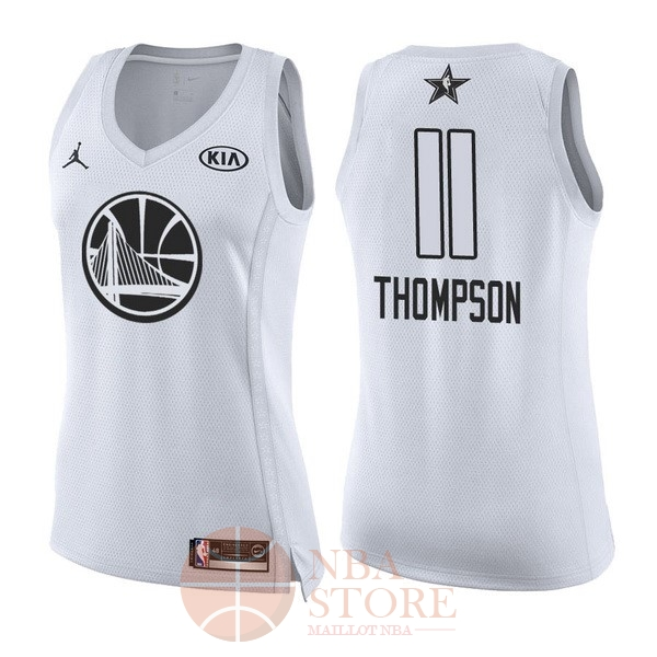 Classic Maillot NBA Femme 2018 All Star NO.11 Klay Thompson Blanc