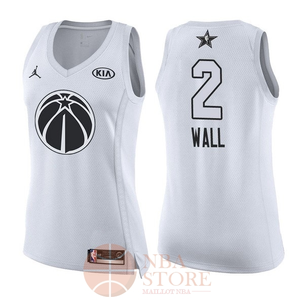 Classic Maillot NBA Femme 2018 All Star NO.2 John Wall Blanc
