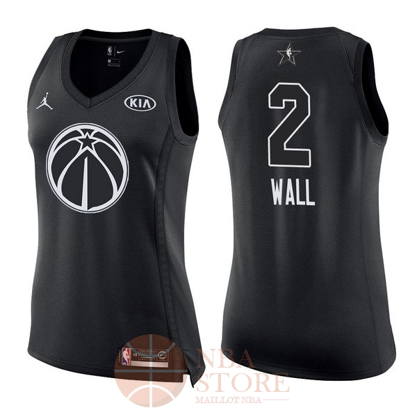 Classic Maillot NBA Femme 2018 All Star NO.2 John Wall Noir