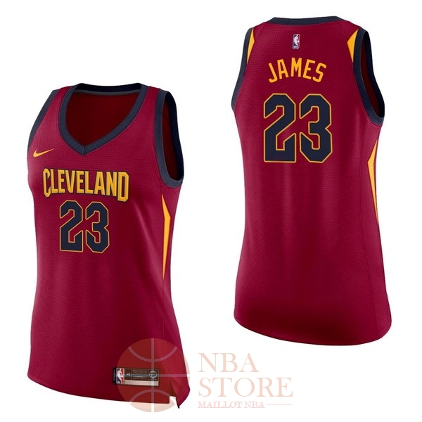 Classic Maillot NBA Femme Cleveland Cavaliers NO.23 LeBron James Rouge Icon