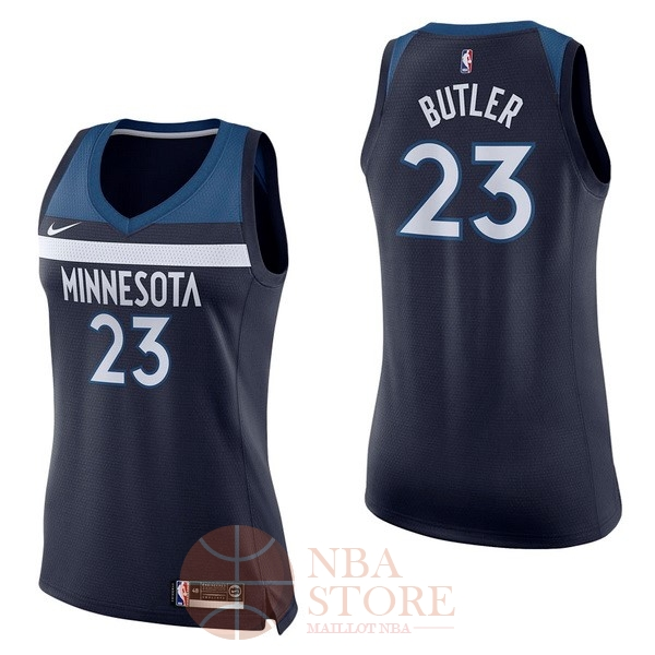 Classic Maillot NBA Femme Minnesota Timberwolves NO.23 Jimmy Butler Marine Icon