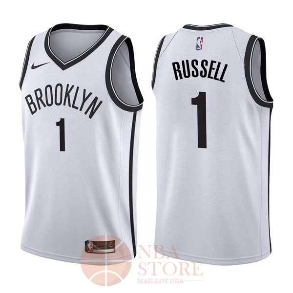 Classic Maillot NBA Nike Brooklyn Nets NO.1 D'Angelo Russell Blanc Association