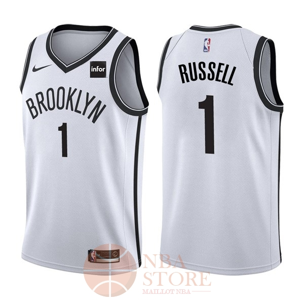 Classic Maillot NBA Nike Brooklyn Nets NO.1 D'Angelo Russell Blanc
