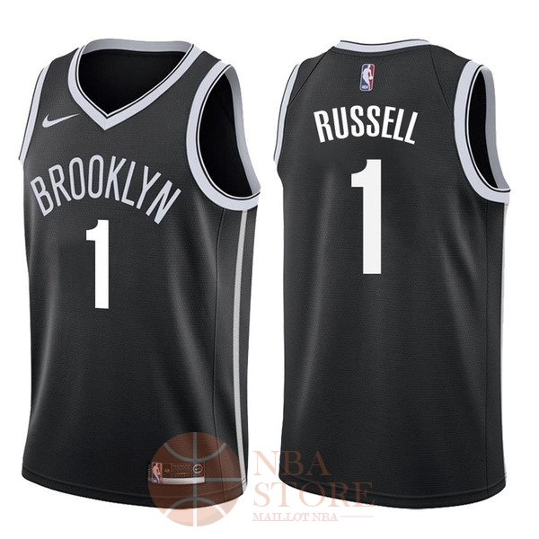 Classic Maillot NBA Nike Brooklyn Nets NO.1 D'Angelo Russell Noir Icon