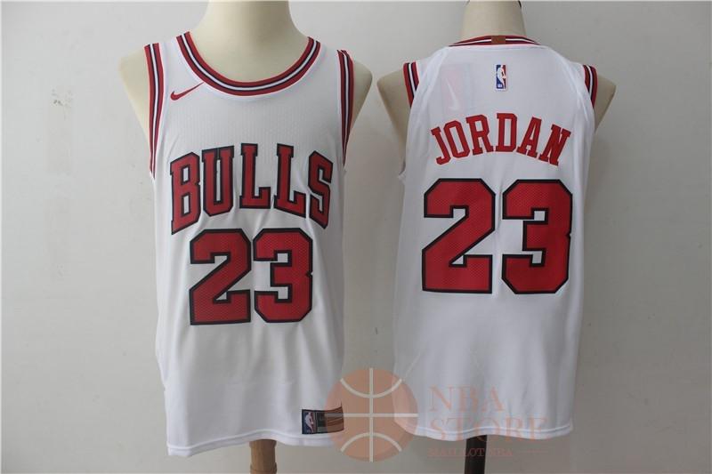 0be0c360d6c2a Classic Maillot NBA Nike Chicago Bulls NO.23 Michael Jordan Blanc  Association
