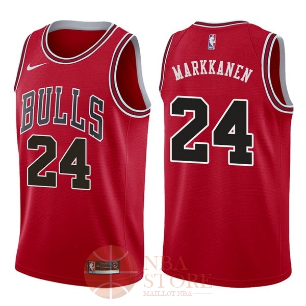 Classic Maillot NBA Nike Chicago Bulls NO.24 Lauri Markkanen Rouge Icon