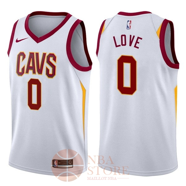 Classic Maillot NBA Nike Cleveland Cavaliers NO.0 Kevin Love Blanc Association