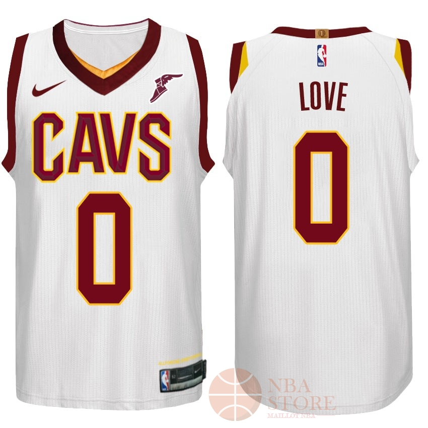 Classic Maillot NBA Nike Cleveland Cavaliers NO.0 Kevin Love Blanc