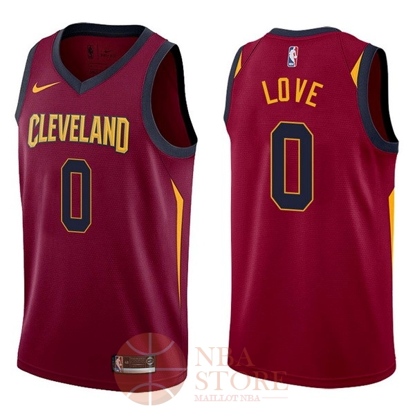 Classic Maillot NBA Nike Cleveland Cavaliers NO.0 Kevin Love Rouge Icon