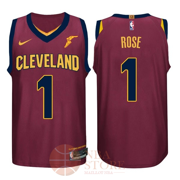 Classic Maillot NBA Nike Cleveland Cavaliers NO.1 Derrick Rose Rouge