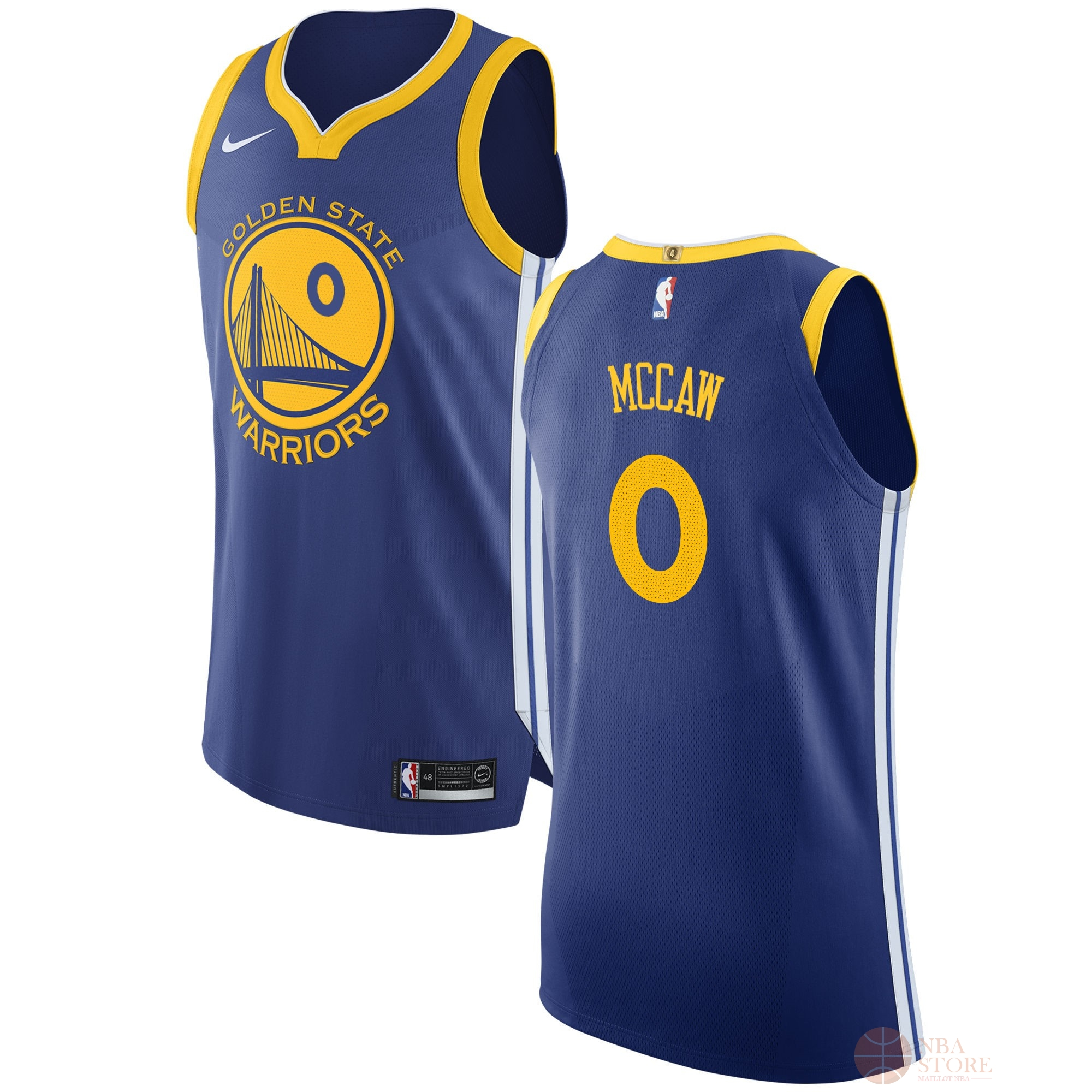 Classic Maillot NBA Nike Golden State Warriors NO.0 Patrick McCaw Bleu Icon