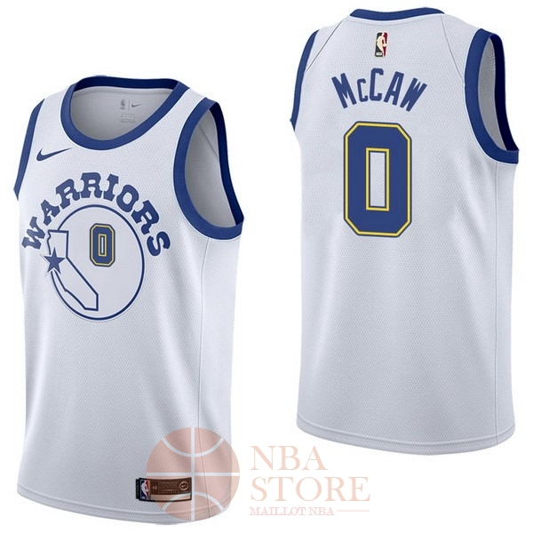 Classic Maillot NBA Nike Golden State Warriors NO.0 Patrick McCaw Nike Retro Blanc