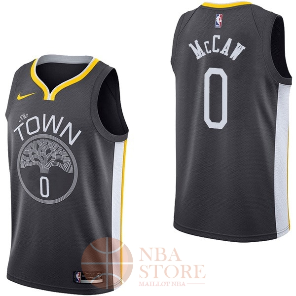 Classic Maillot NBA Nike Golden State Warriors NO.0 Patrick McCaw Noir Statement