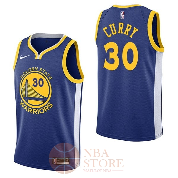 Classic Maillot NBA Nike Golden State Warriors NO.30 Stephen Curry Bleu Icon