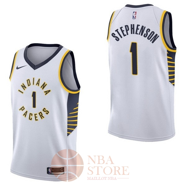 Classic Maillot NBA Nike Indiana Pacers NO.1 Lance Stephenson Blanc Association