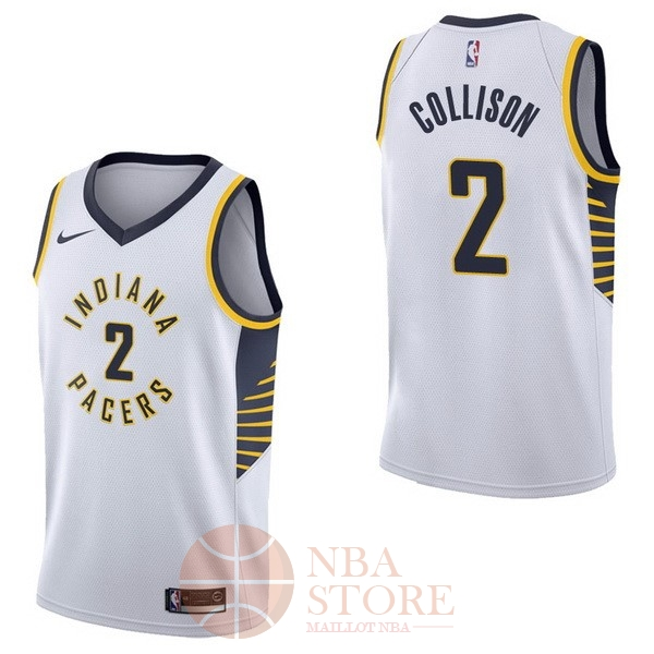Classic Maillot NBA Nike Indiana Pacers NO.2 Darren Collison Blanc Association