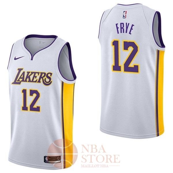 Classic Maillot NBA Nike Los Angeles Lakers NO.12 Channing Frye Blanc Association