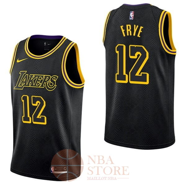 Classic Maillot NBA Nike Los Angeles Lakers NO.12 Channing Frye Nike Noir Ville