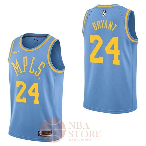 263cb176b7862 Classic Maillot NBA Nike Los Angeles Lakers NO.24 Kobe Bryant Retro Bleu