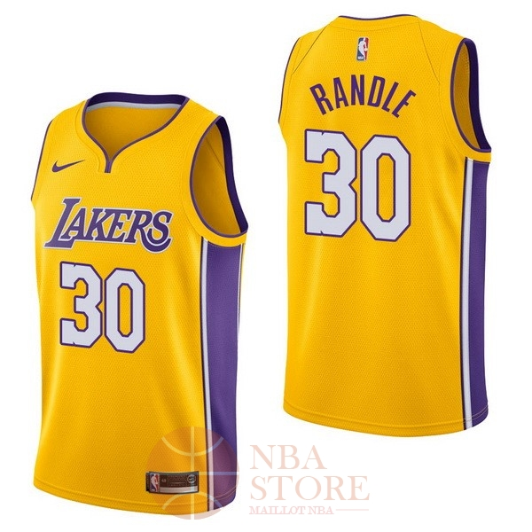 Classic Maillot NBA Nike Los Angeles Lakers NO.30 Julius Randle Jaune Icon