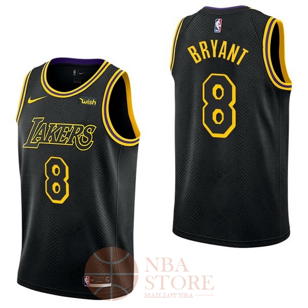 Classic Maillot NBA Nike Los Angeles Lakers NO.8 Kobe Bryant Noir