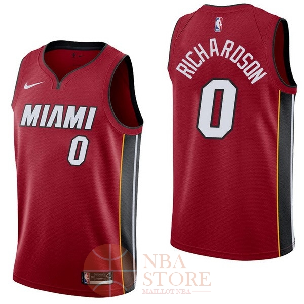 Classic Maillot NBA Nike Miami Heat NO.0 Josh Richardson Rouge Statement