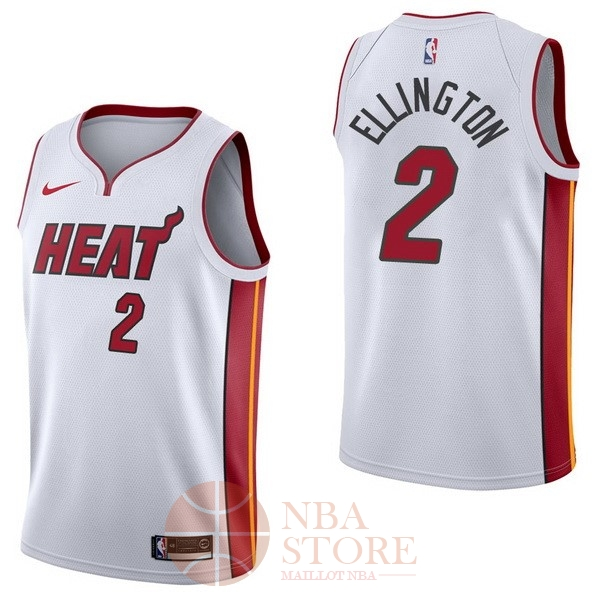 Classic Maillot NBA Nike Miami Heat NO.2 Wayne Ellington Blanc Association