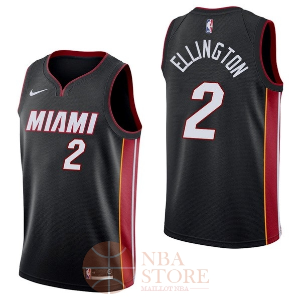 Classic Maillot NBA Nike Miami Heat NO.2 Wayne Ellington Noir Icon