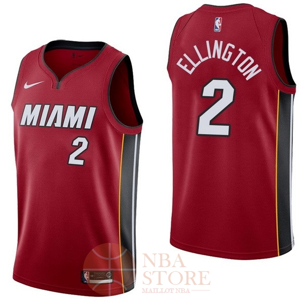Classic Maillot NBA Nike Miami Heat NO.2 Wayne Ellington Rouge Statement