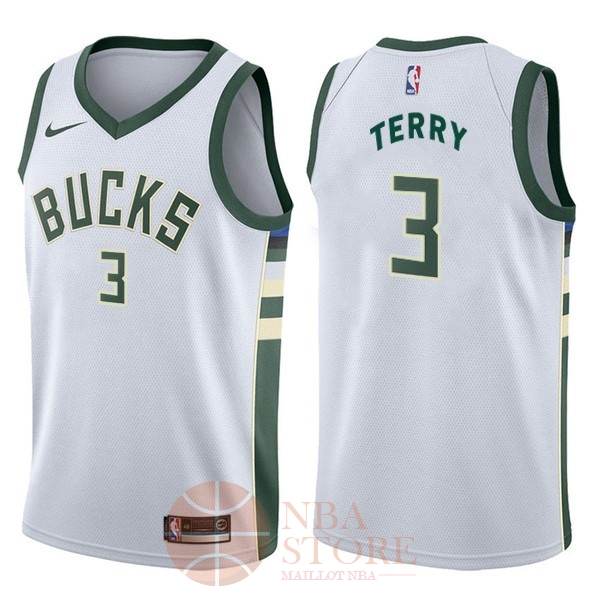 Classic Maillot NBA Nike Milwaukee Bucks NO.3 Jason Terry Blanc Association
