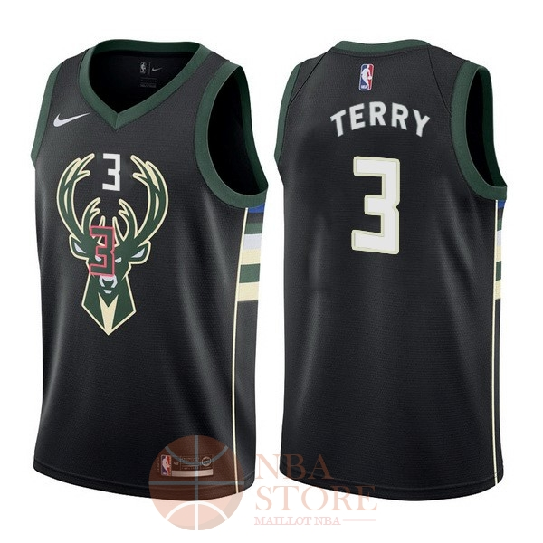 Classic Maillot NBA Nike Milwaukee Bucks NO.3 Jason Terry Noir Statement