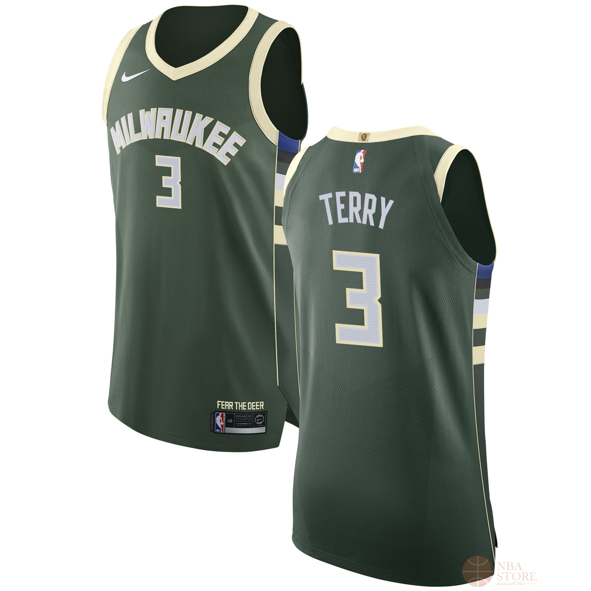Classic Maillot NBA Nike Milwaukee Bucks NO.3 Jason Terry Vert Icon