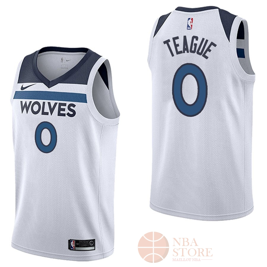 Classic Maillot NBA Nike Minnesota Timberwolves NO.0 Jeff Teague Blanc Association